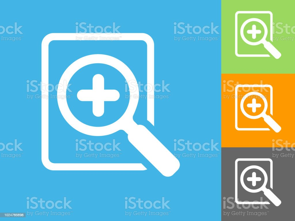 Add Search  Flat Icon on Blue Background vector art illustration