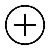 Add Thin Line Vector Icon