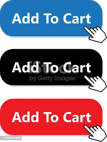 Add to cart button collection with a hand pointer.