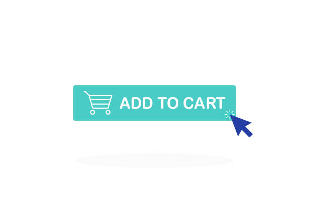 Add to cart button. Shopping Cart icon Add to cart button. Shopping Cart icon. online shopping stock illustrations