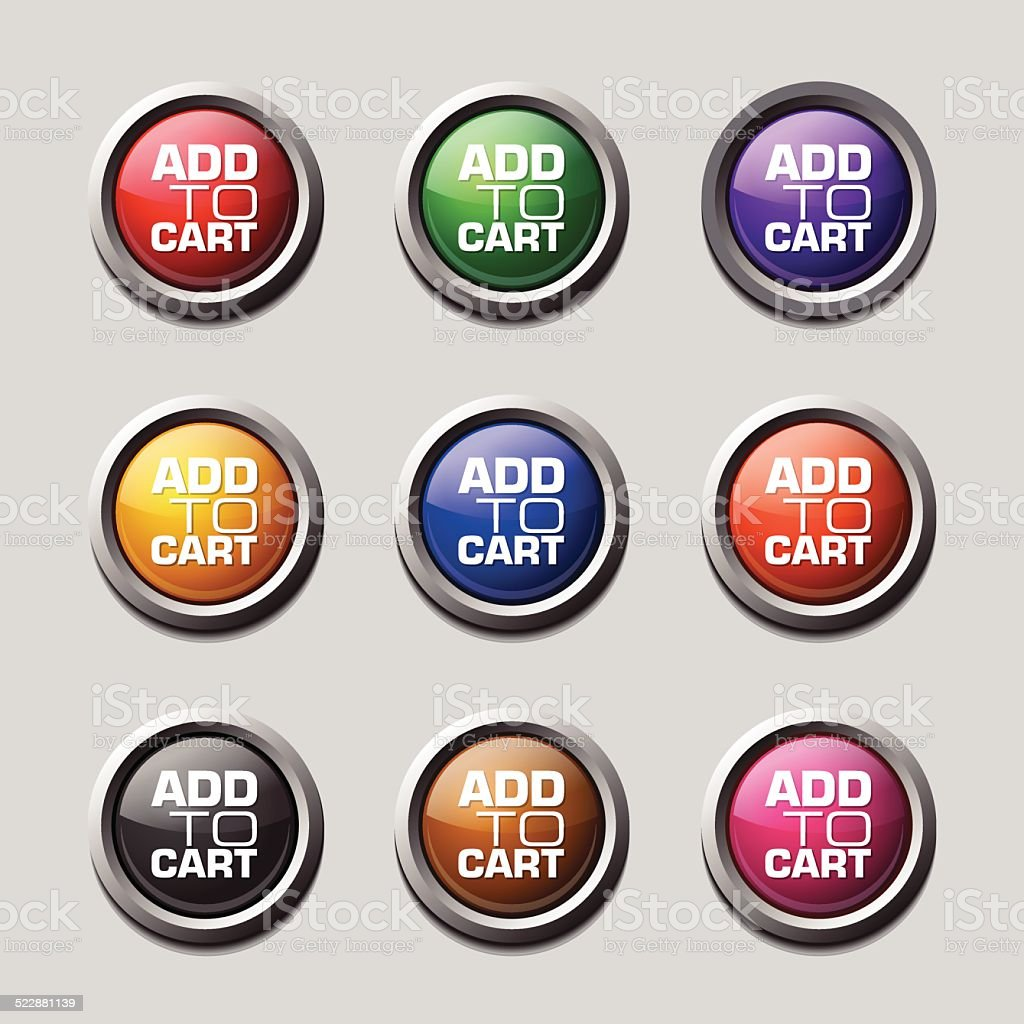 Add To Cart Colorful Vector Icon Design