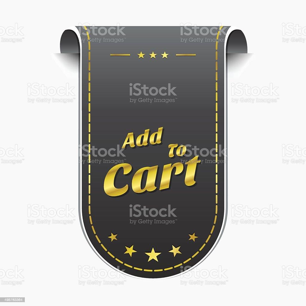 Add To Cart golden Vector Icon Design