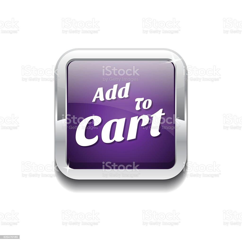 Add To Cart Purple Vector Icon Button