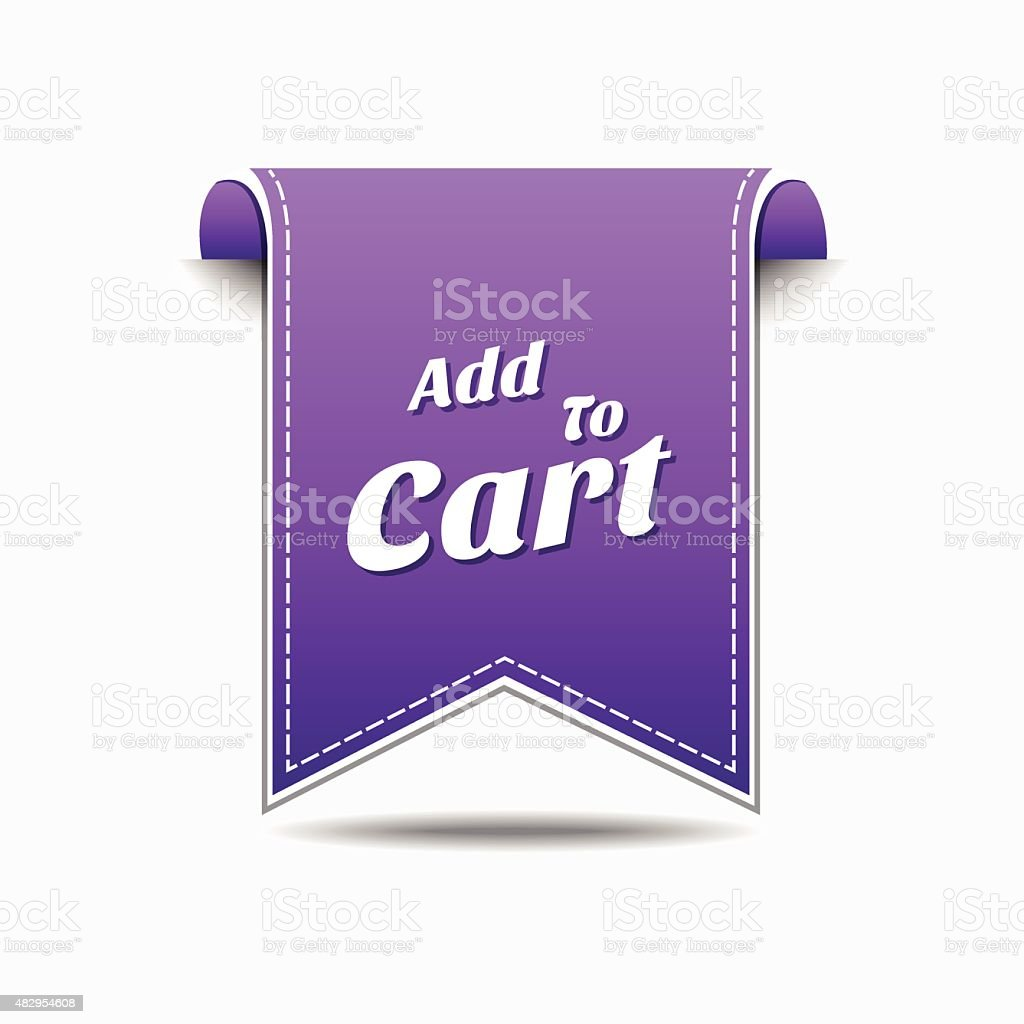 Add To Cart Violet Vector Icon Design