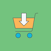 istock Add to shopping cart line icon 1137510272