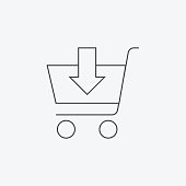 istock Add to shopping cart line icon 1137513425