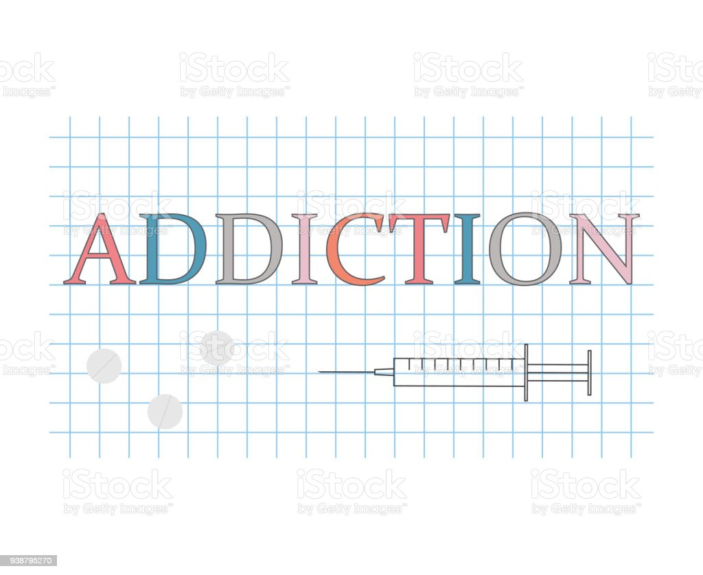 Addiction word on checkered paper sheet vector illustrationaddiction addiction word on checkered paper sheet vector illustrationaddiction word on checkered paper sheet vector ccuart Gallery