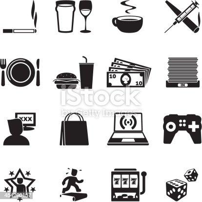 Addictions icon set.
