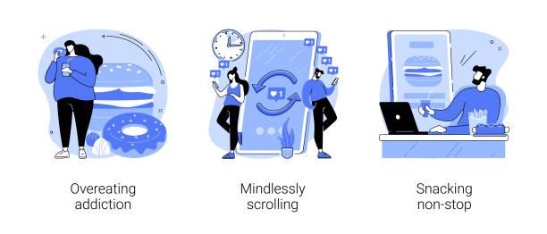 addictive habits abstract concept vector illustrations. - dopamine hình minh họa sẵn có