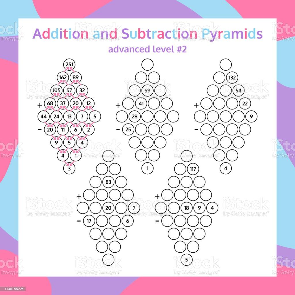 Addition Und Subtraktionpyramid Set Pädagogische Mathematik