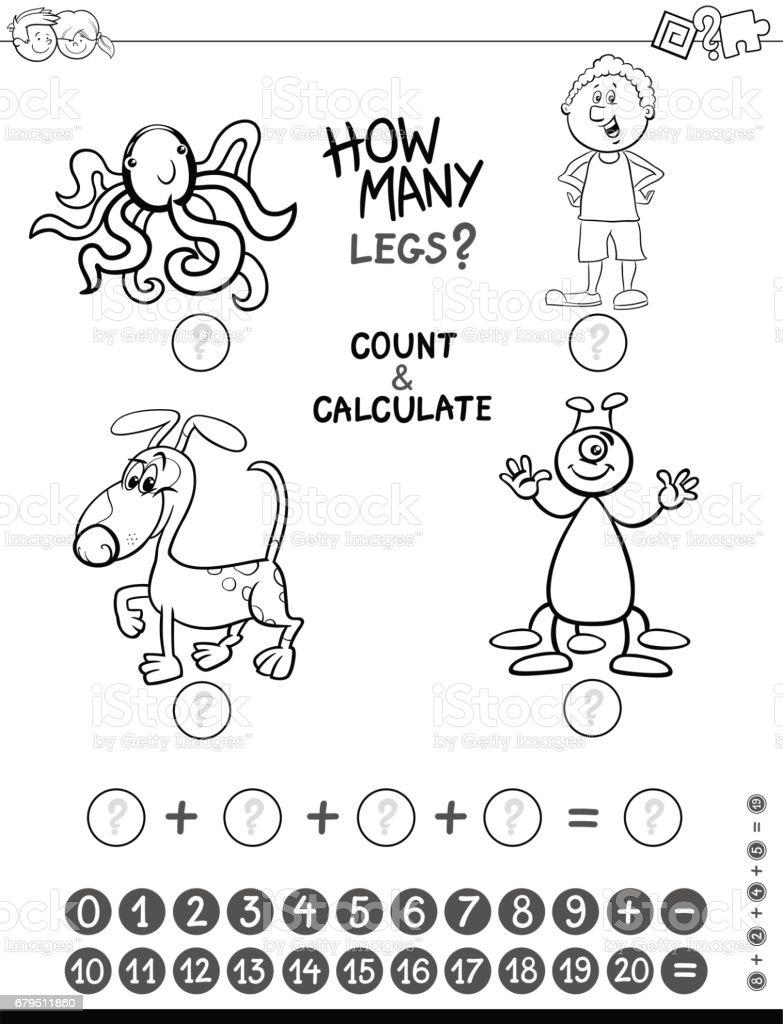 Ayrıca Oyun Boyama Sayfası Stok Vektör Sanatı Anaokulunin Daha