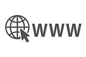 Address and navigation bar icon, browser application icon, concept online search www pictogram – vector
