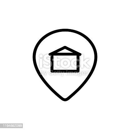 istock Address apartment icon vector. Isolated contour symbol illustration 1194662099
