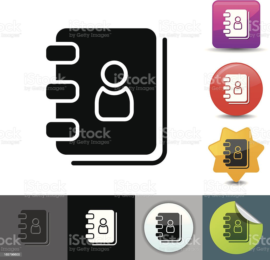 Address book icon | solicosi series royalty-free stock vector art