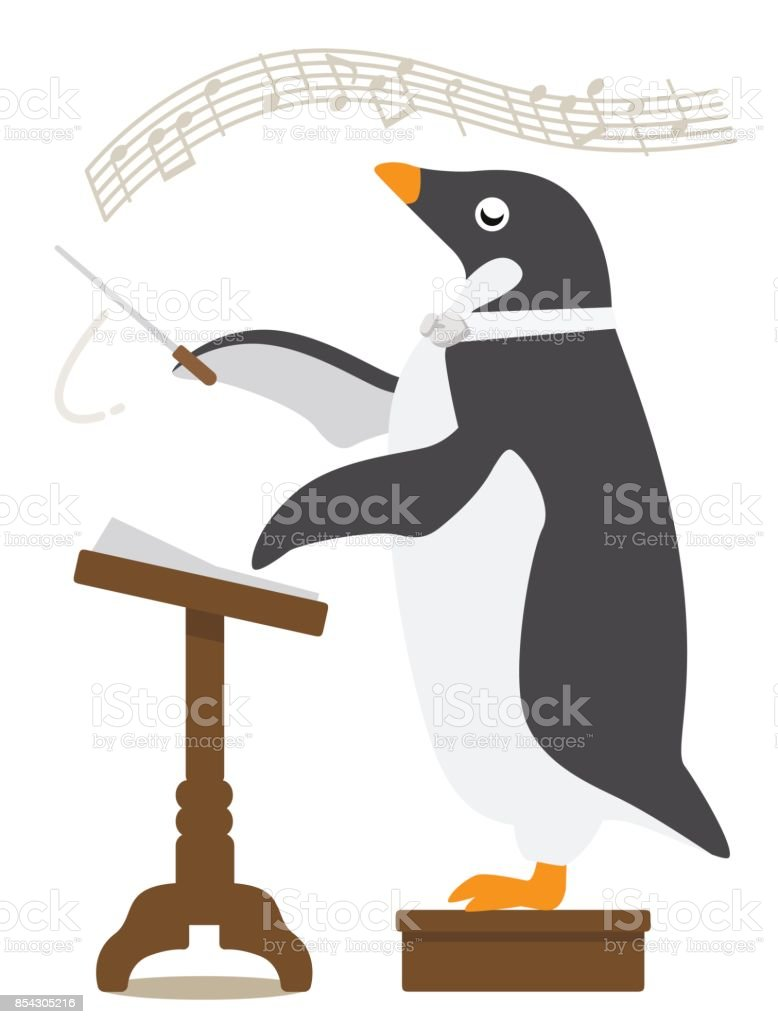 Adelie Penguin/conductor vector art illustration