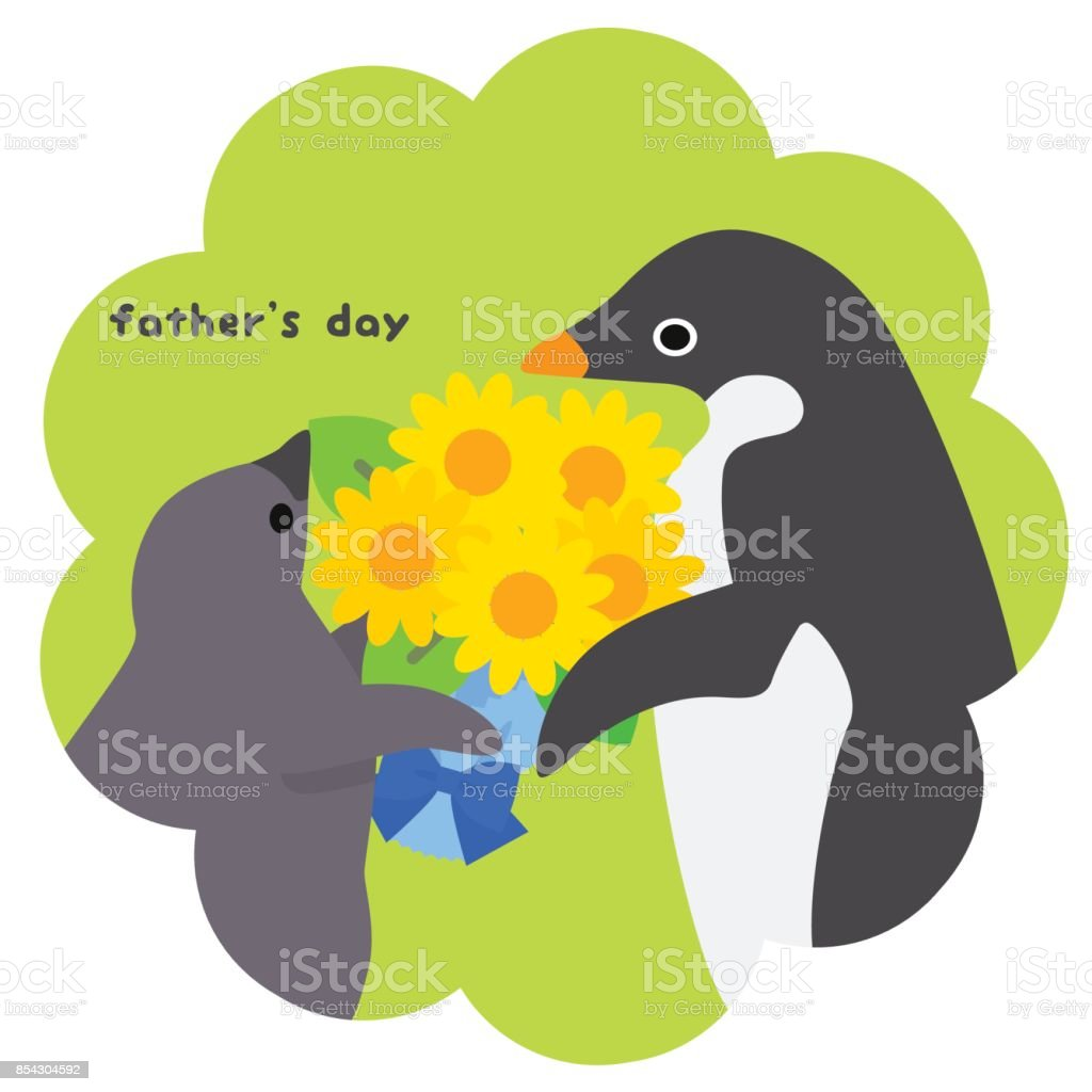 Adelie Penguin/father's day vector art illustration