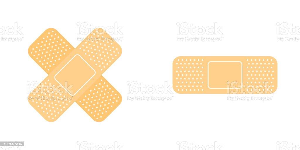 Adhesive bandage icon set vector art illustration