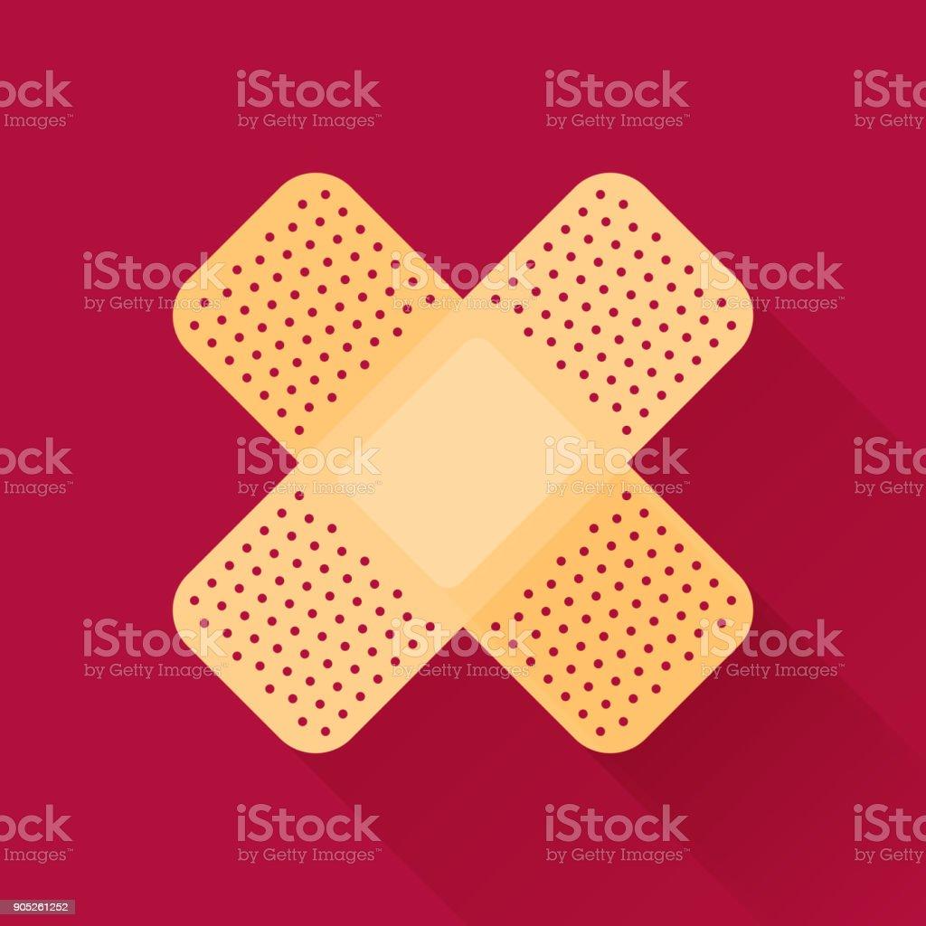 Adhesive bandage vector art illustration
