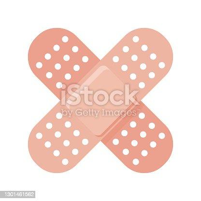 istock Adhesive Bandages Vaccine Icon 1301461562