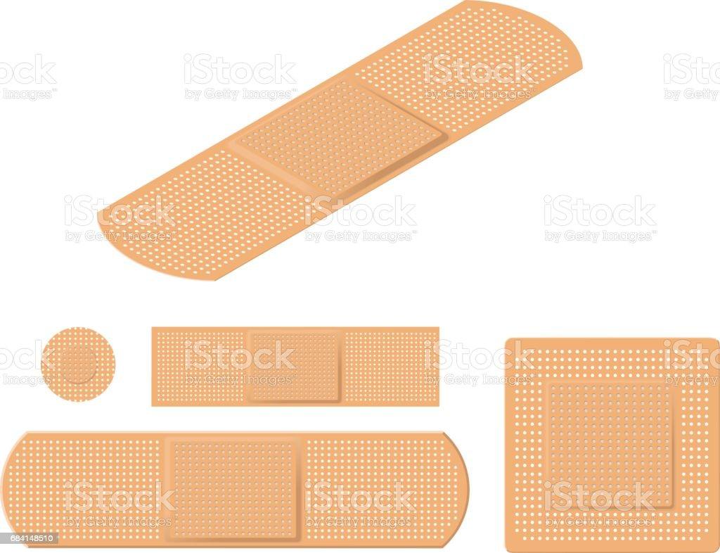 Adhesive Bandages royaltyfri adhesive bandages-vektorgrafik och fler bilder på bandage