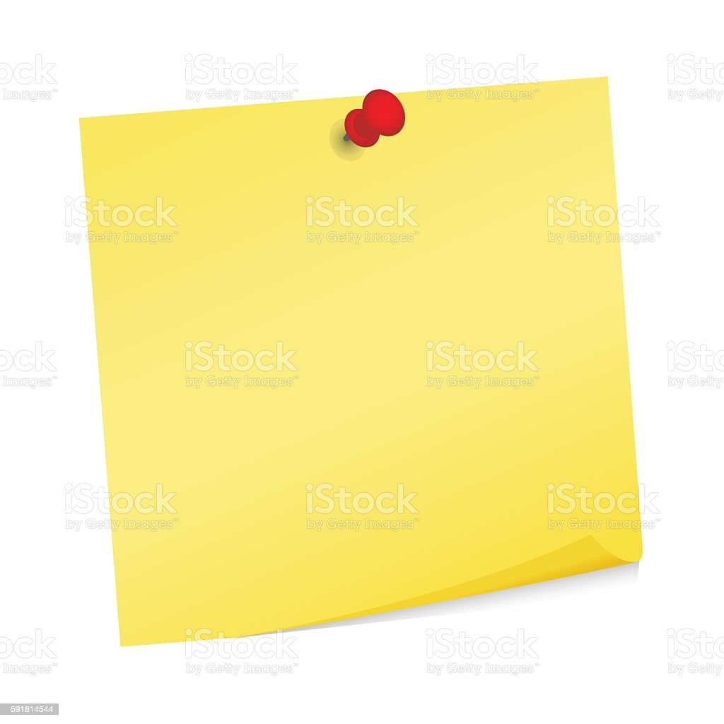 Adhesive Note Post It Vector Stock Illustration