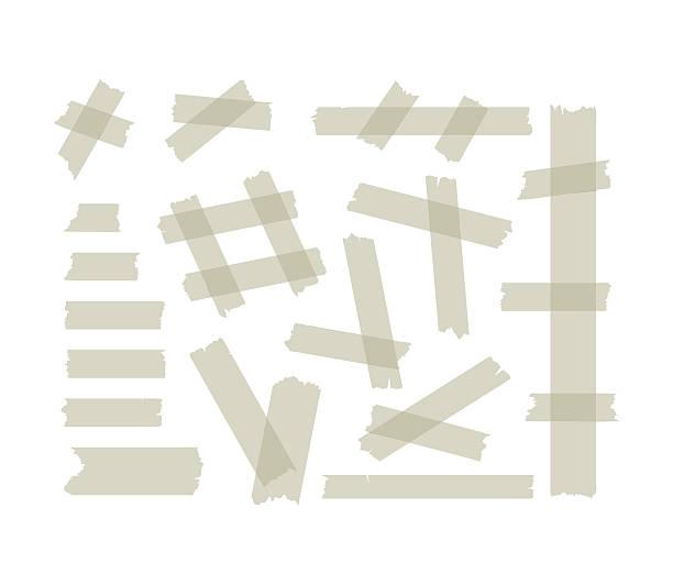 ilustrações, clipart, desenhos animados e ícones de adhesive tape set. vector - fita cassete
