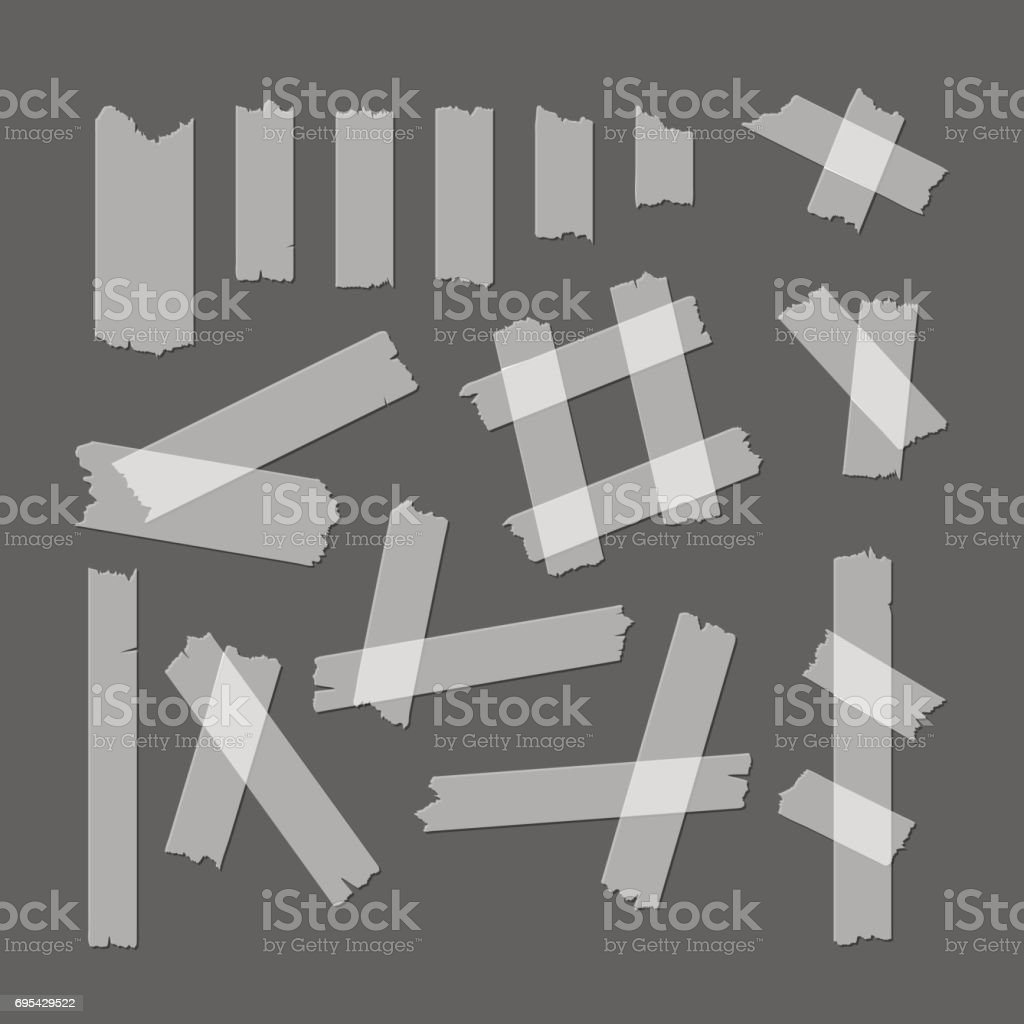 Adhesive Tape Set. Vector vector art illustration