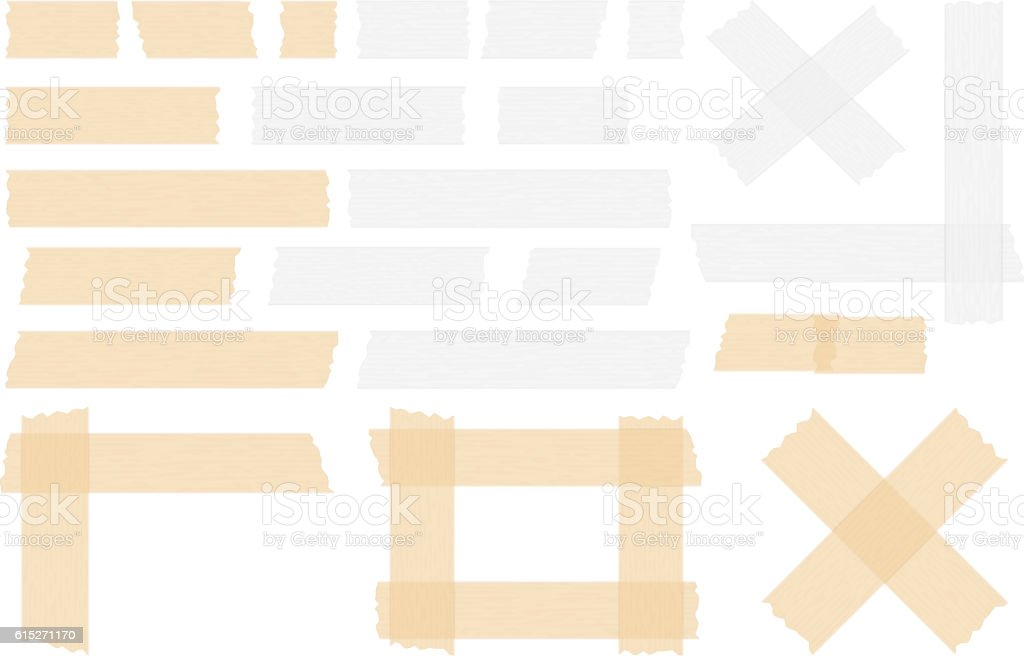 Adhesive Tape vector art illustration