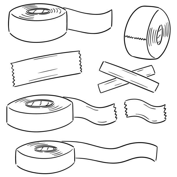 adhesive tape – artystyczna grafika wektorowa