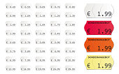 adhesive vector price tags isolated on white background icluding special offers