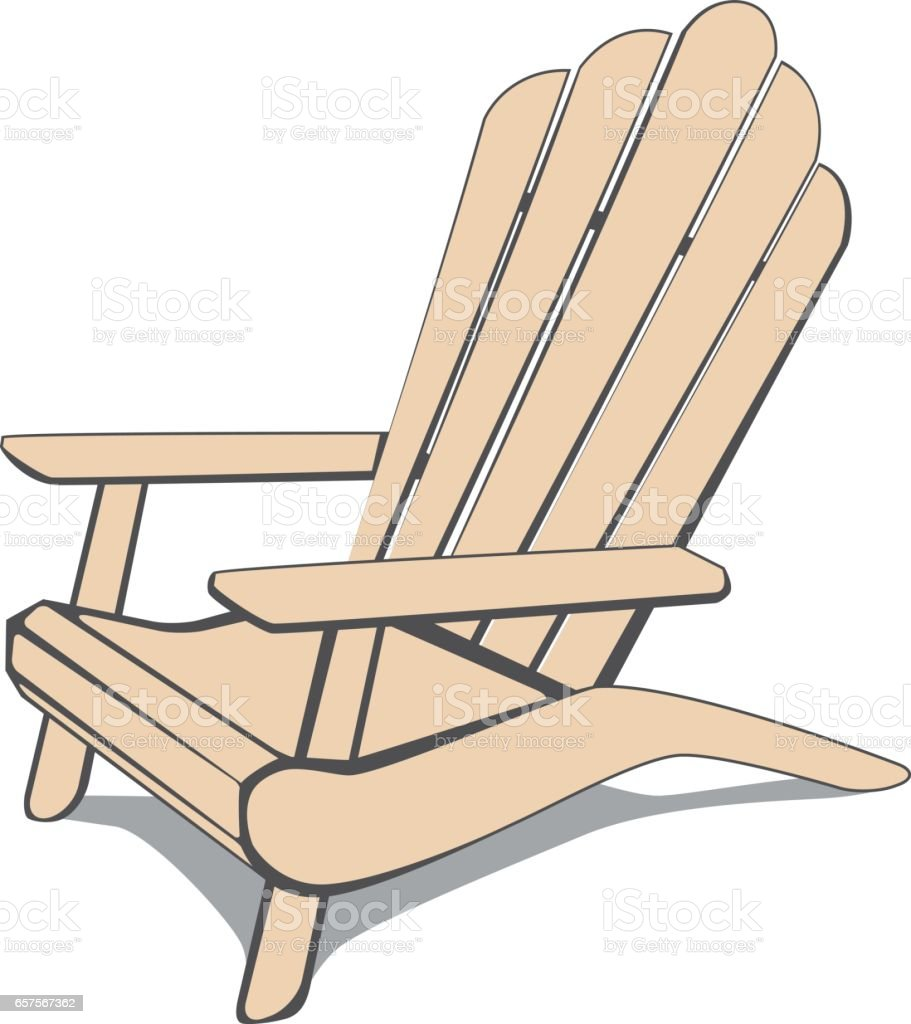 Adirondack Beach Chair Stock Vector Art & More Images of Adirondack ...