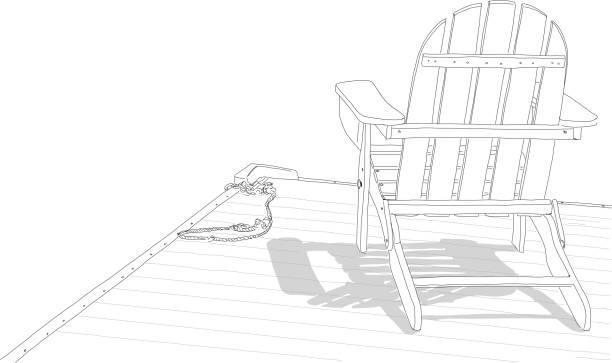 Adirondack Chair Cartoons Illustrations, Royalty-Free Vector ...