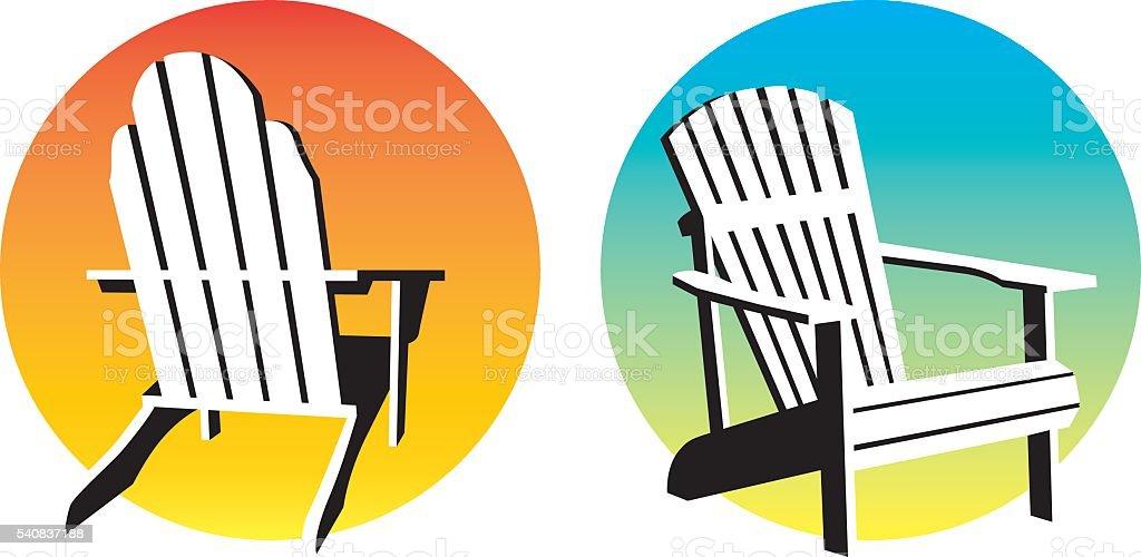 royalty free adirondack chair clip art vector images rh istockphoto com