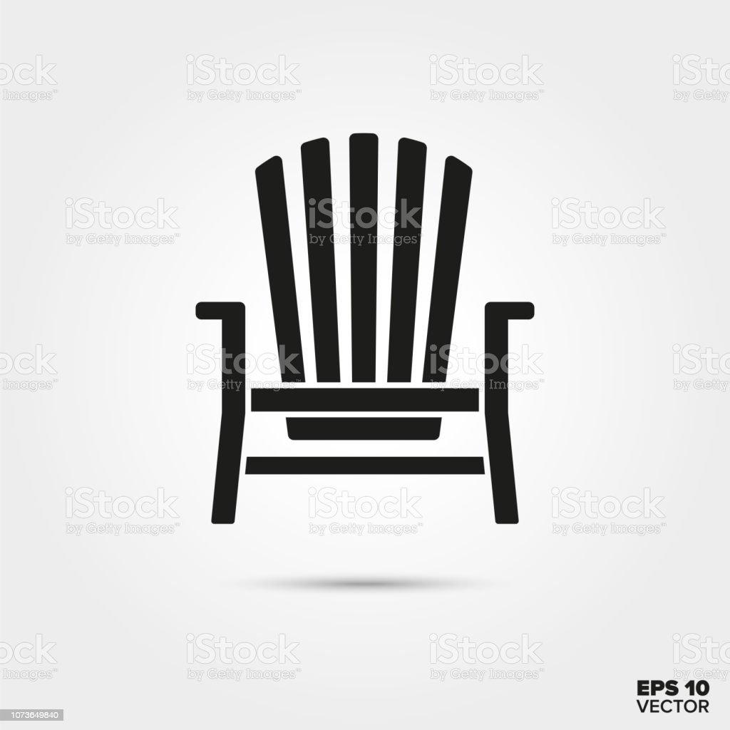 Adirondack chair vector icon vector art illustration