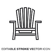 Adirondack Chair Silhouette at GetDrawings.com | Free for ...