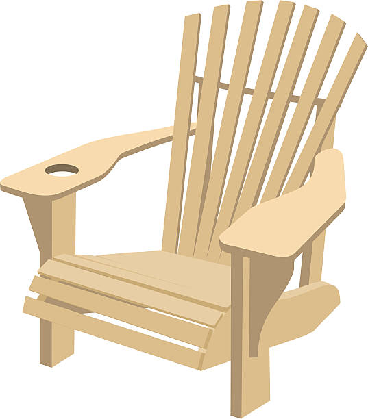 Adirondack Muskoka Chair  adirondack chair stock illustrations