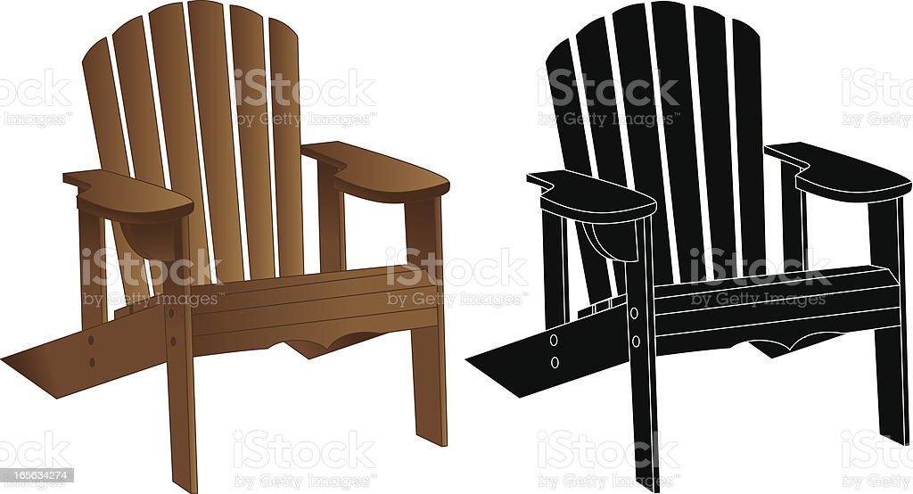adirondack chair silhouette.  Silhouette AdirondackMuskoka Chair Vector Art Illustration Inside Adirondack Silhouette R