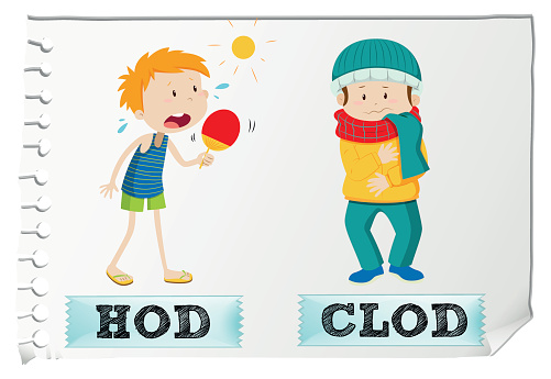 Adjective hot and cold