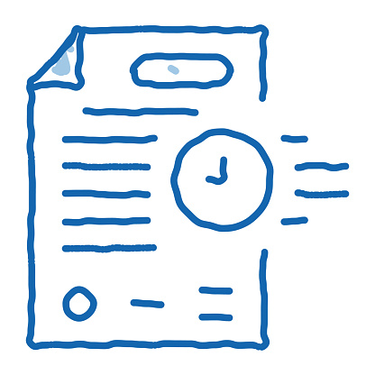 adjournment of trial date sketch icon vector. Hand drawn blue doodle line art adjournment of trial date sign. isolated symbol illustration