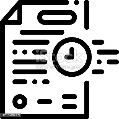 adjournment of trial date icon vector. adjournment of trial date sign. isolated contour symbol illustration