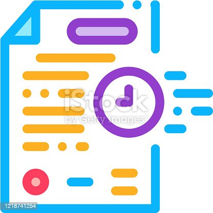 adjournment of trial date icon vector. adjournment of trial date sign. color symbol illustration