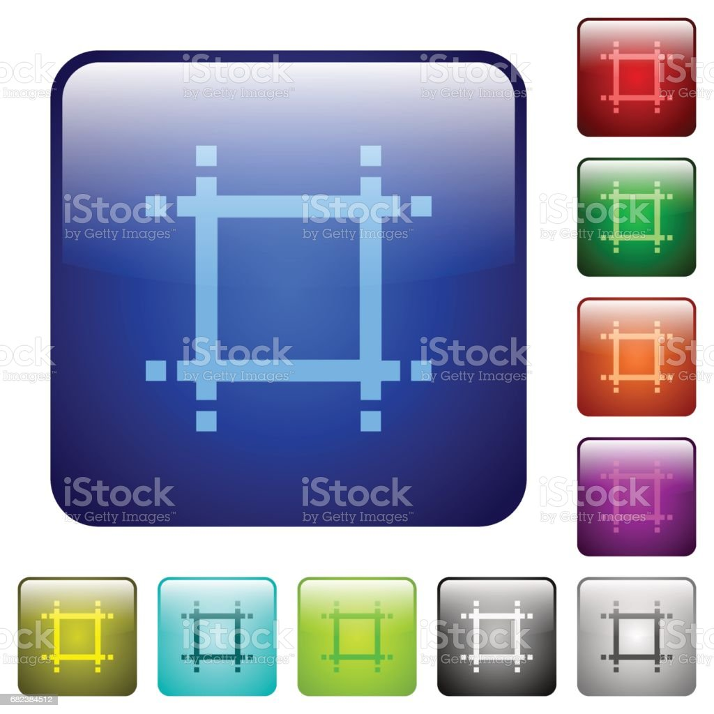 Adjust canvas size color square buttons royalty-free adjust canvas size color square buttons stock vector art & more images of adjusting