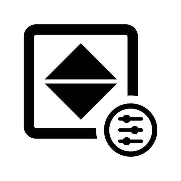 anpassen von farbe, helligkeit, kontrast schwarz symbol - farbsättigung stock-grafiken, -clipart, -cartoons und -symbole