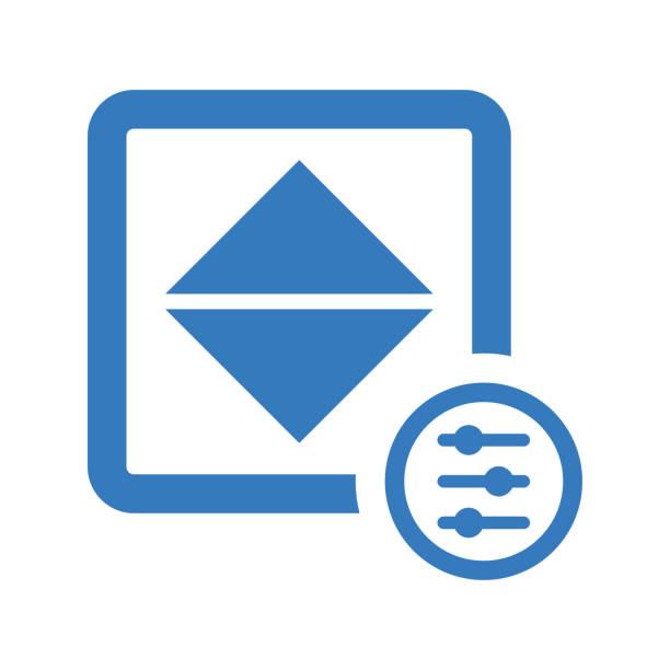 anpassen von farbe, helligkeit, kontrast blau symbol - farbsättigung stock-grafiken, -clipart, -cartoons und -symbole