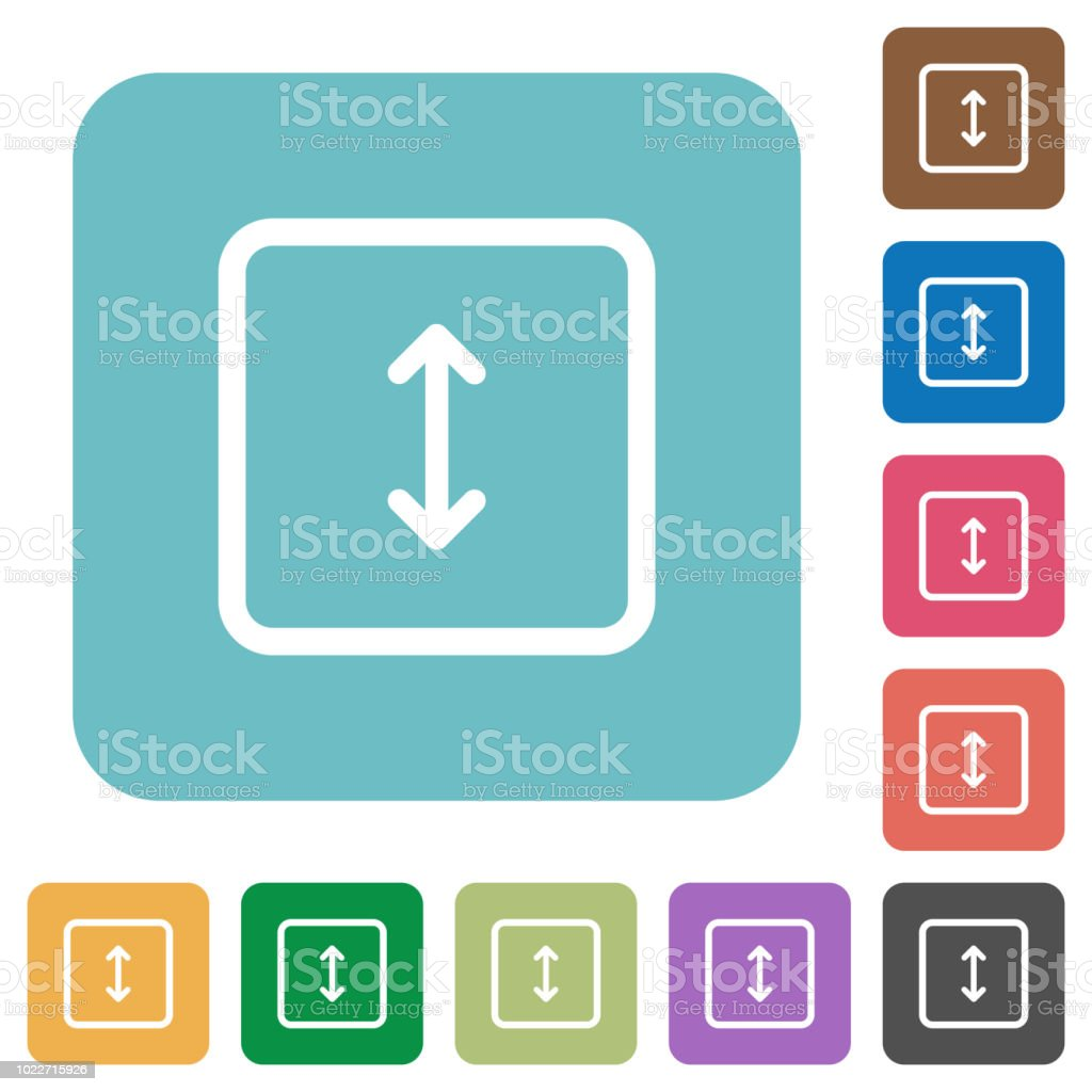 Adjust object height rounded square flat icons