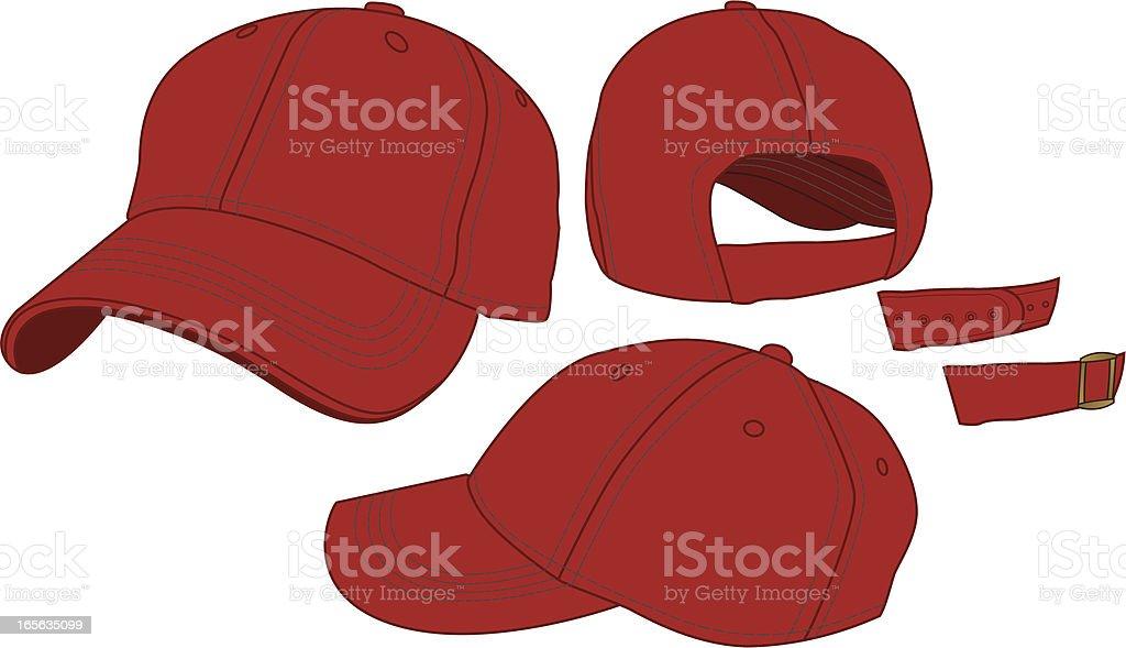 Adjustable Baseball Hat Template royalty-free stock vector art