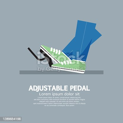 istock Adjustable Pedal Symbol Automobile Concept Vector Illustration 1289654156