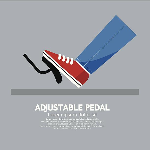 verstellbare pedal - bremse stock-grafiken, -clipart, -cartoons und -symbole