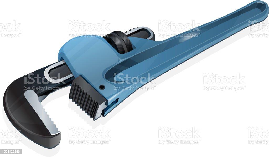 Adjustable Pipe Wrench - Illustration vector art illustration