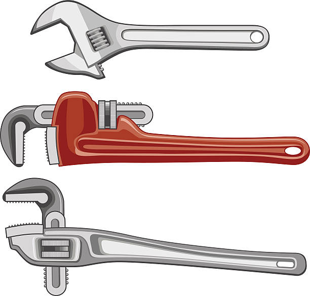 Royalty Free Adjustable Wrench Clip Art, Vector Images ...